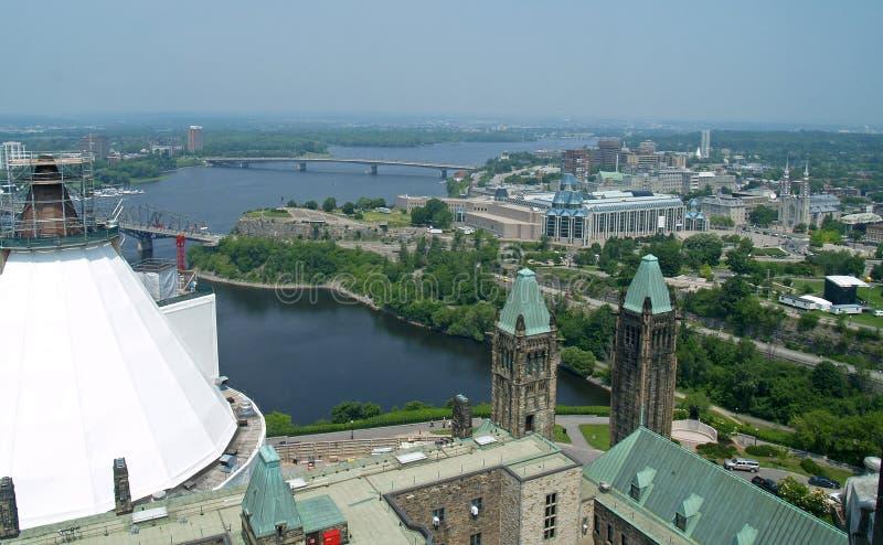 空中渥太华视图 免版税库存图片