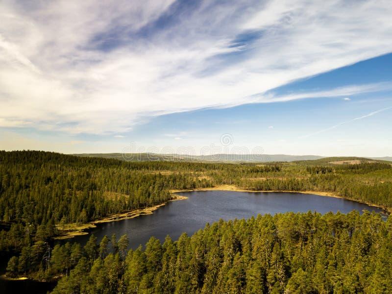 空中湖 库存图片