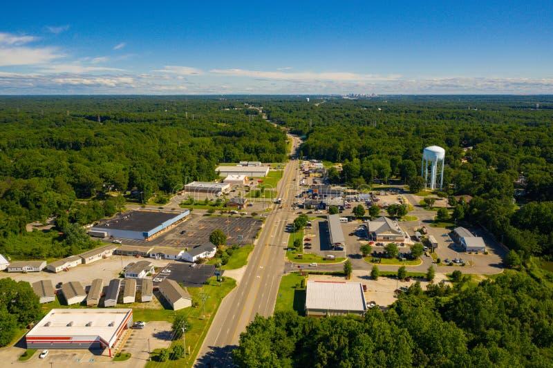 空中照片彻斯特VA美国 免版税图库摄影