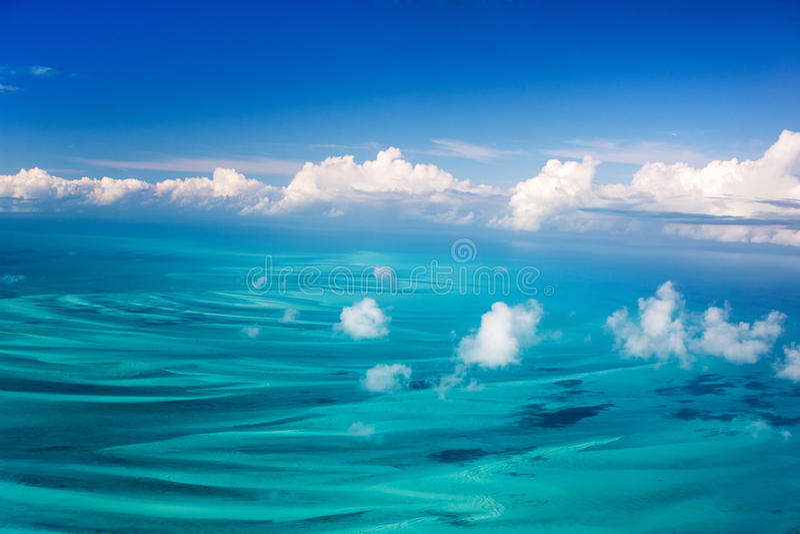 空中的巴哈马 免版税库存照片