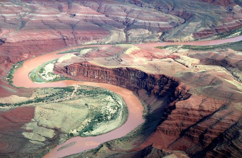 空中科罗拉多河 库存照片