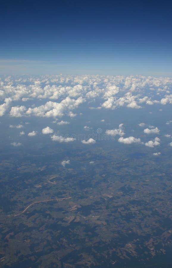 空中统温层视图 免版税库存照片