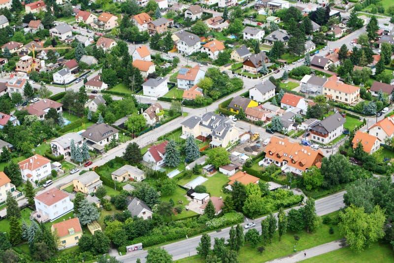 空中维也纳视图 免版税库存照片