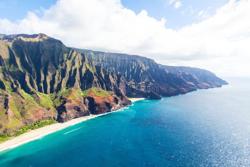 空中考艾岛视图 库存照片