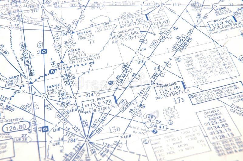 空中航线微弱背景的图表 图库摄影