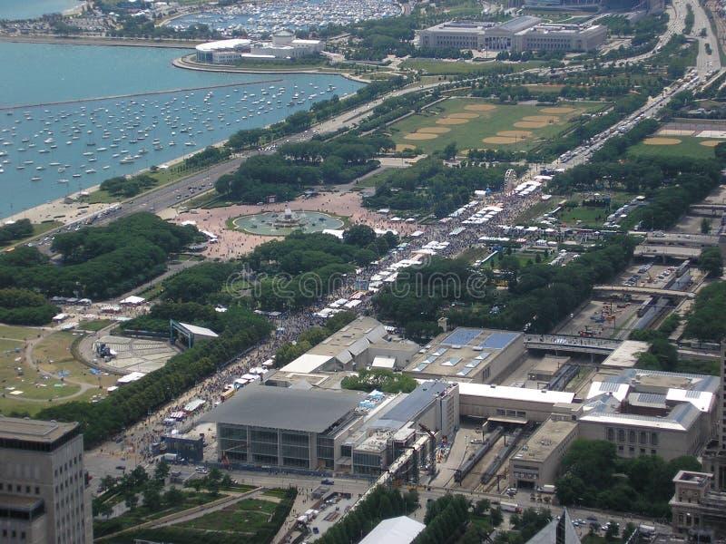 空中芝加哥口味 免版税库存图片