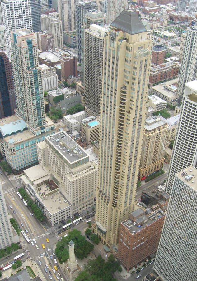 空中芝加哥 免版税库存照片