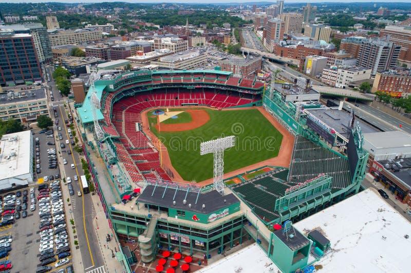 空中芬威球场波士顿 免版税库存照片