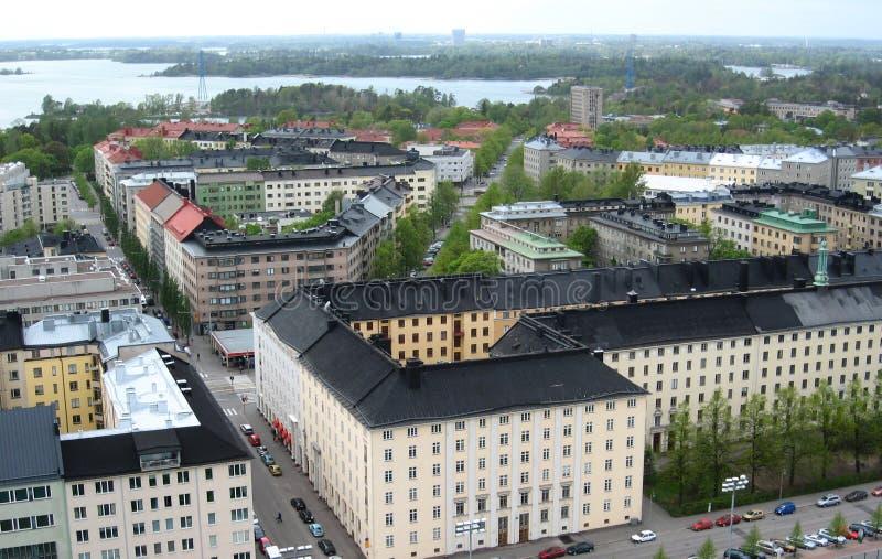 空中赫尔辛基视图 免版税库存照片