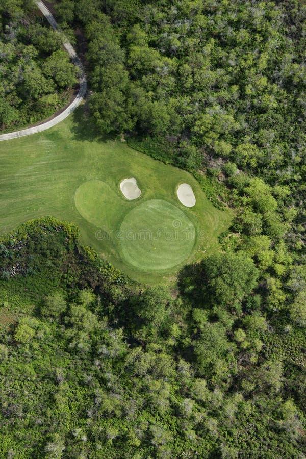 空中路线高尔夫球 图库摄影