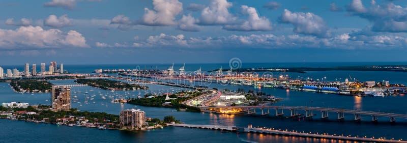 空中迈阿密视图 库存图片