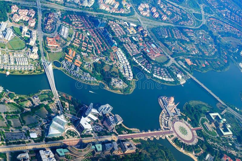 空中都市风景,马来西亚 库存图片