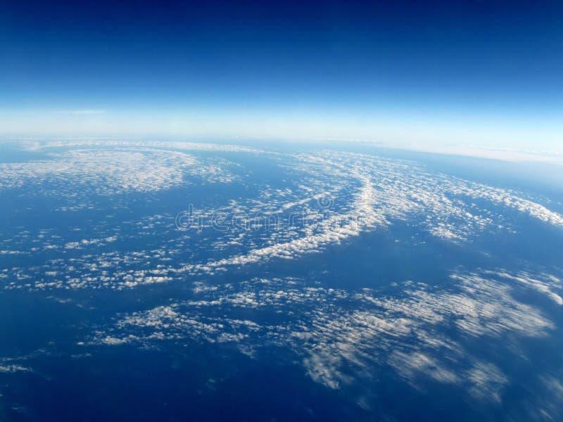 空中飓风视图 库存照片