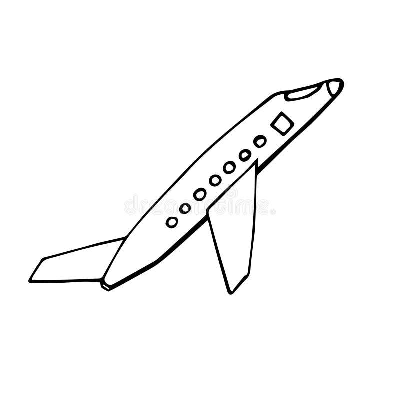 空中飞机的抽象传染媒介例证 免版税库存照片