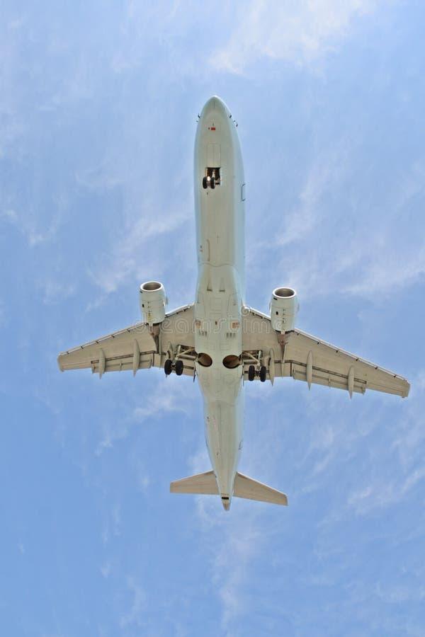 空中飞机 库存图片