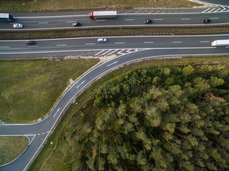 空中高速公路视图 免版税库存图片