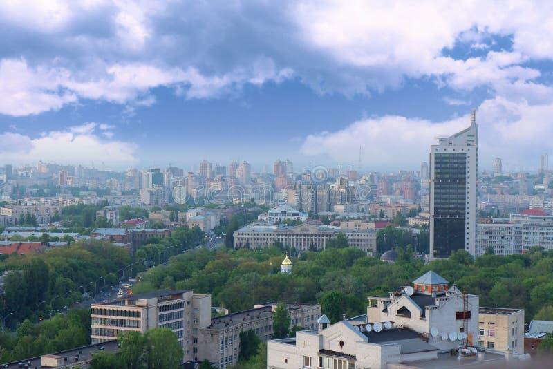 空中kyiv乌克兰视图 免版税库存图片