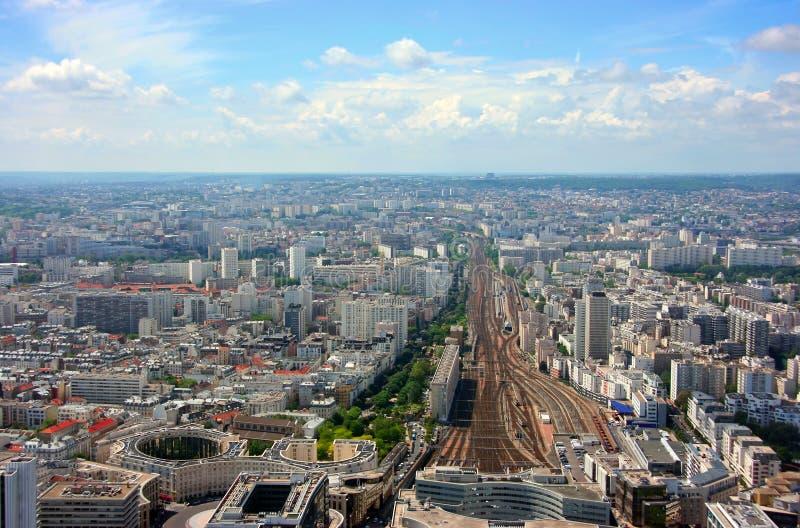 空中montparnasse岗位视图 免版税库存照片