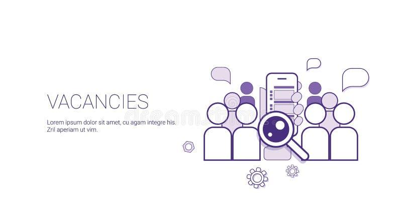 空位工作位置企业概念模板与拷贝空间的网横幅 库存例证