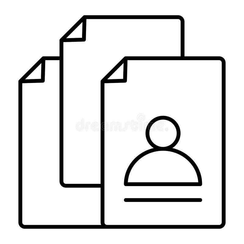 空位查寻稀薄的线象 在白色隔绝的聘用的传染媒介例证 空位文件概述样式设计 库存例证