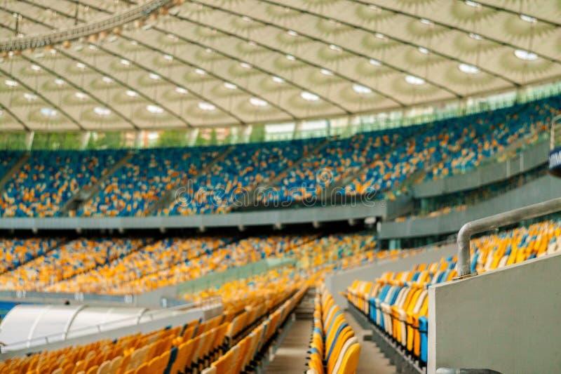 空位进去照片在体育场内 图库摄影