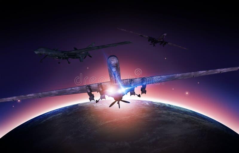 空军寄生虫使命 库存例证