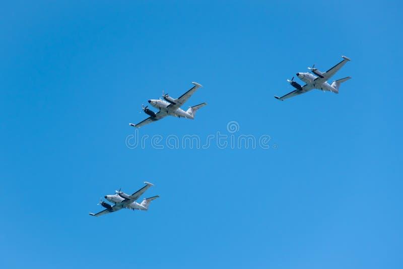 空军队喷气机 库存图片