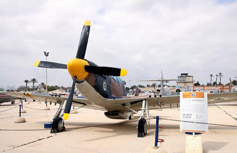 空军队的博物馆他以色列国防军。Kfir是  图库摄影
