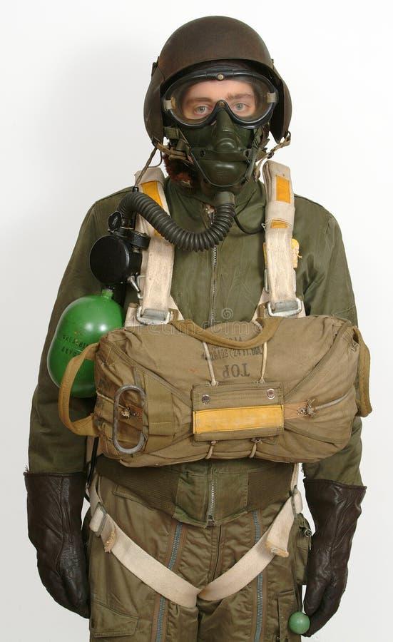 空勤人员美国财政援救准备好的ww11 免版税库存图片