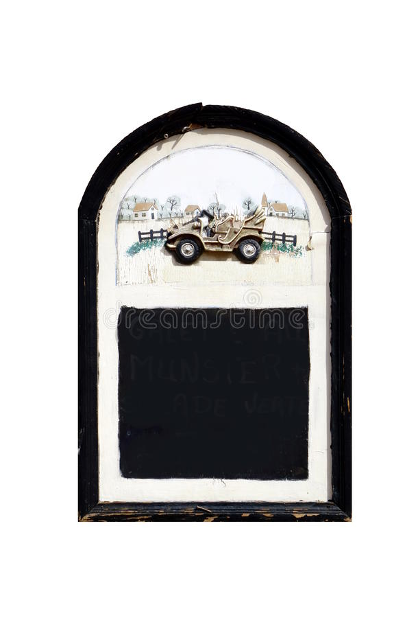 空和被隔绝的黑板 库存照片