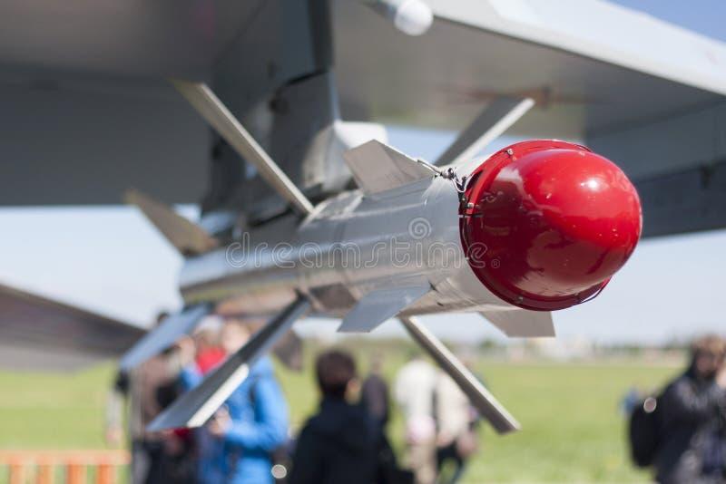 空对空导弹 库存照片