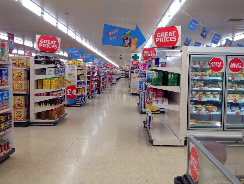 空或离开的大型商场或超级市场 库存图片