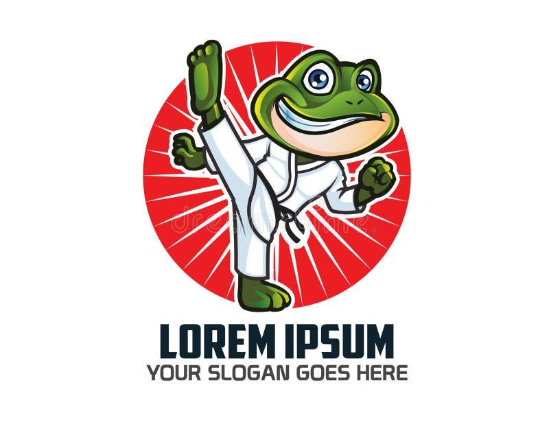空手道青蛙商标 库存例证