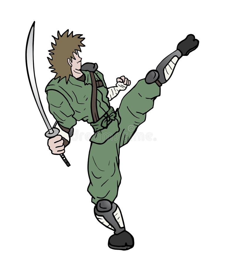 空手道ninja 皇族释放例证