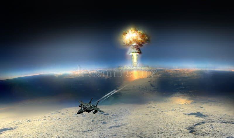 空投炸弹 免版税库存图片