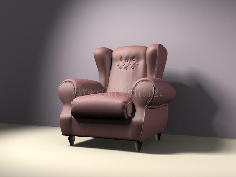 空椅子的手肘 向量例证