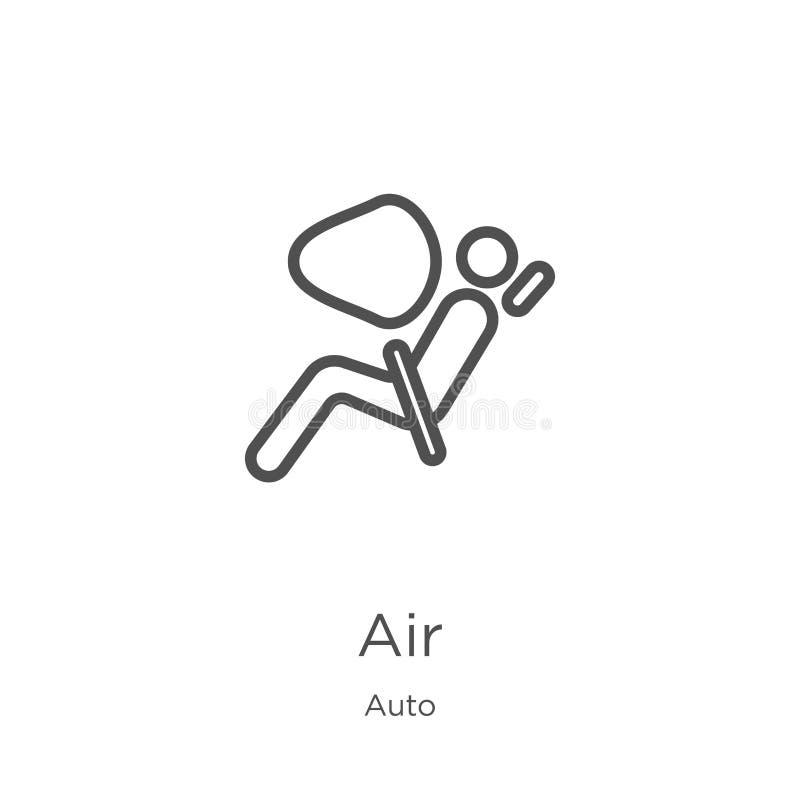 空气从自动收藏的象传染媒介 稀薄的线空气概述象传染媒介例证 概述,稀薄的线网站的空气象 皇族释放例证