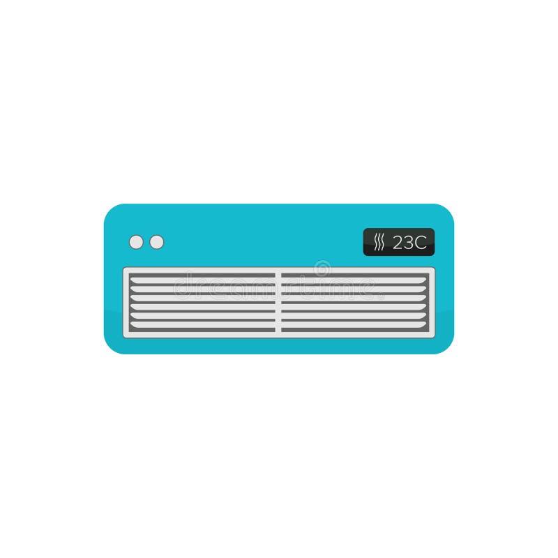 空气冷却器标志-空调器-电装置-在白色背景隔绝的平的传染媒介例证 皇族释放例证