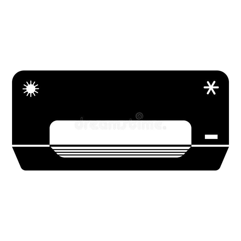 空气冷却器象,简单的样式 向量例证