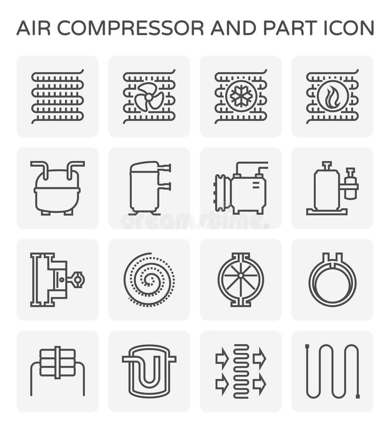 空气压缩机象 向量例证
