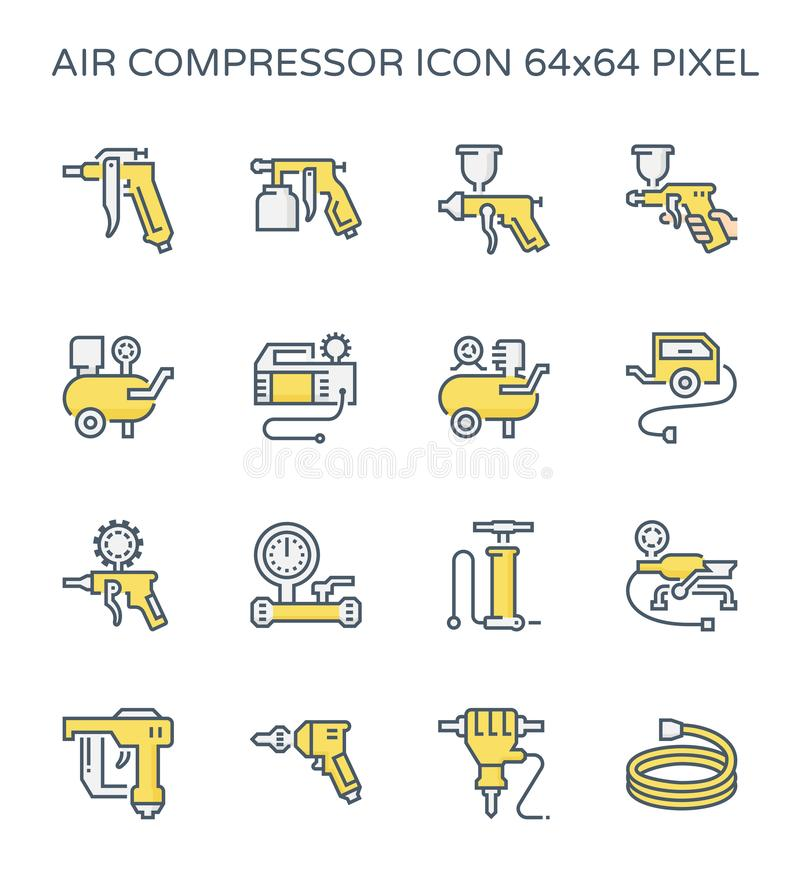 空气压缩机象 库存例证