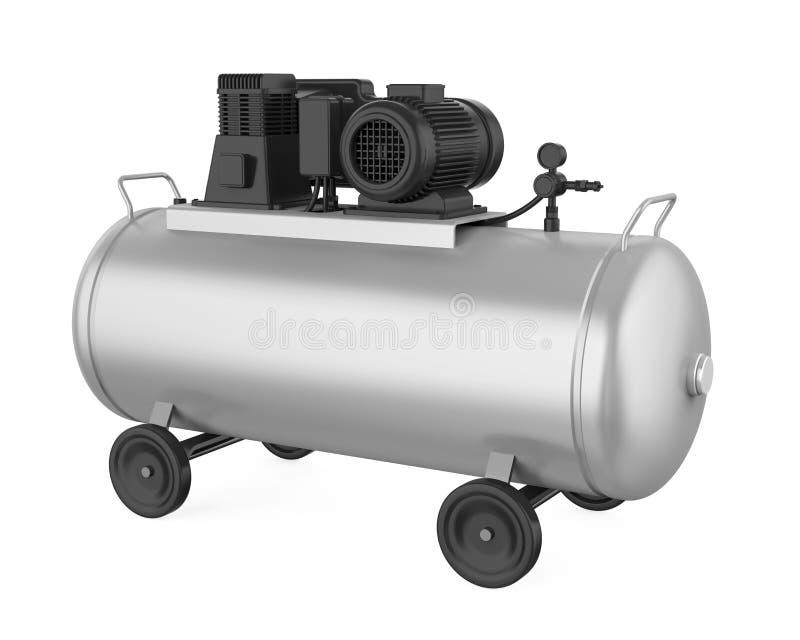 空气压缩机隔绝了 向量例证