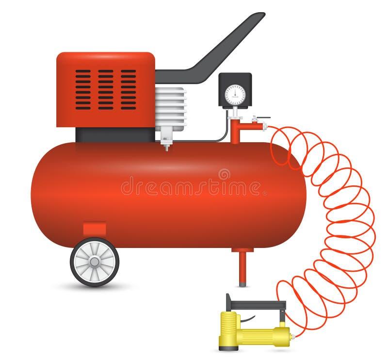 空气压缩机 向量例证