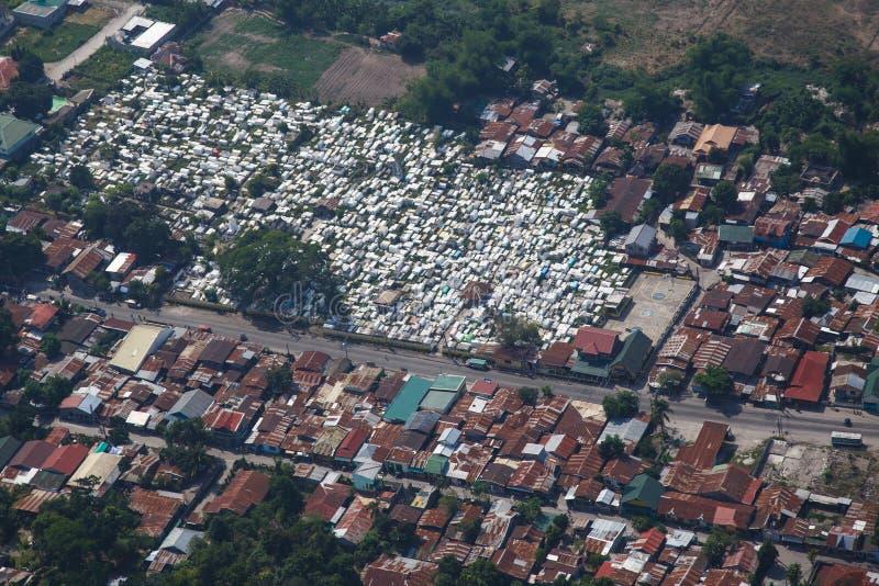 从空气的安赫莱斯市,吕宋,菲律宾 免版税库存照片