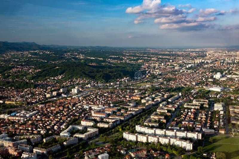 从空气的萨格勒布 免版税图库摄影