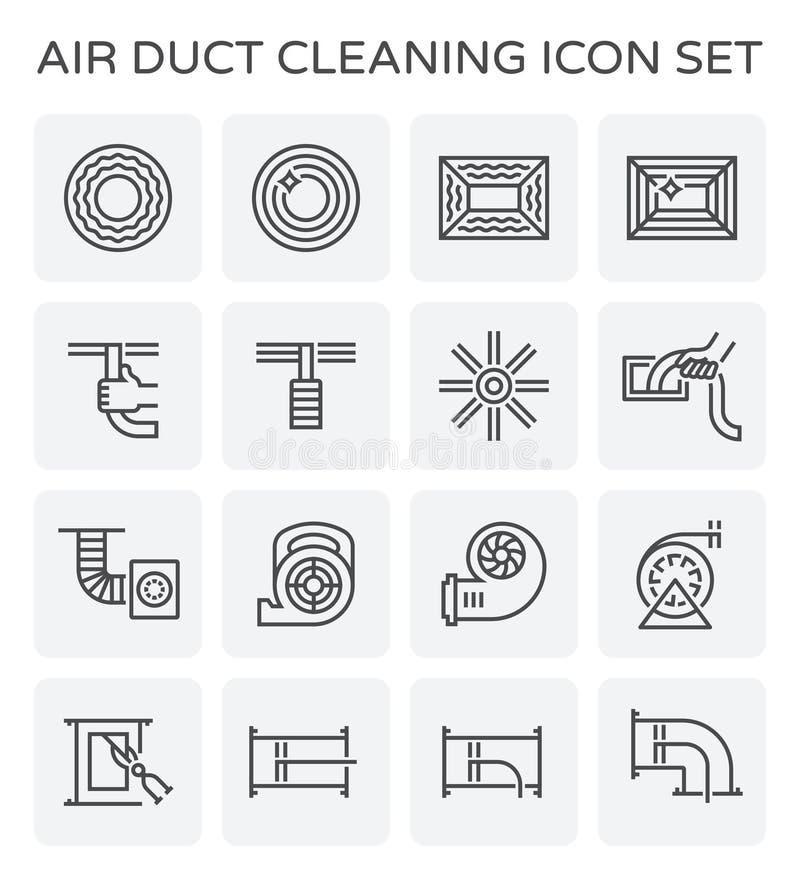 空气管道清洁 库存例证