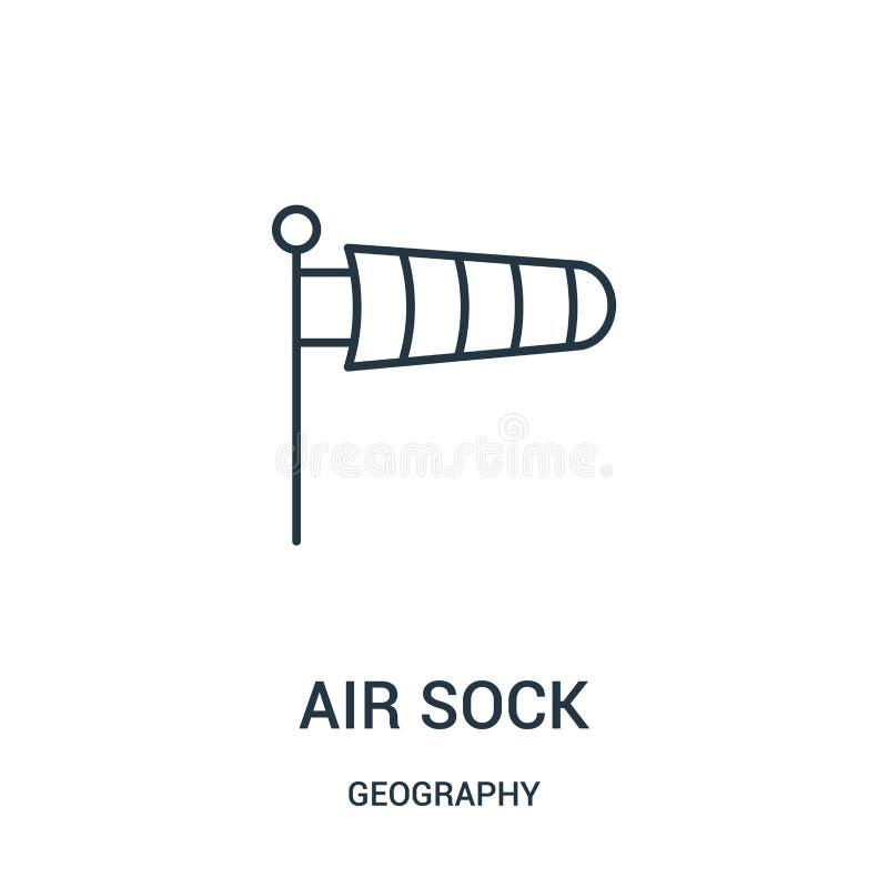 空气袜子从地理汇集的象传染媒介 稀薄的线空气袜子概述象传染媒介例证 皇族释放例证