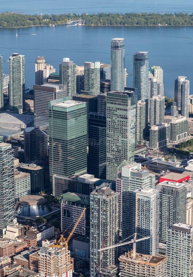 从空气观看的街市多伦多 库存图片