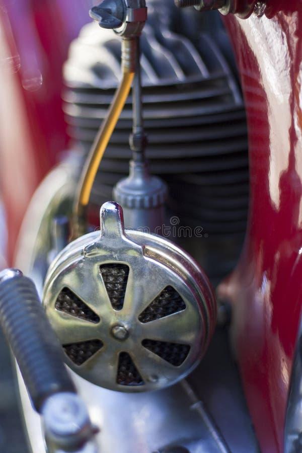 空气过滤器摩托车葡萄酒 免版税库存照片