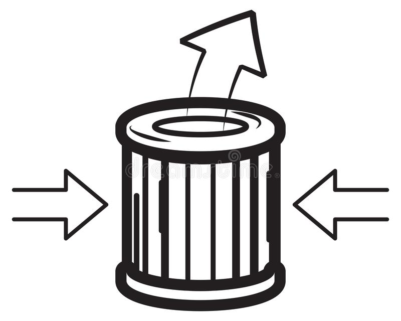 空气过滤器象 库存例证